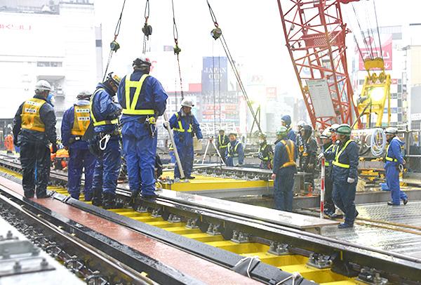 銀座線渋谷駅改良工事